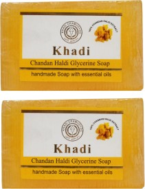Khadi Chandan Haldi Glycerine Soap Pack Of 2