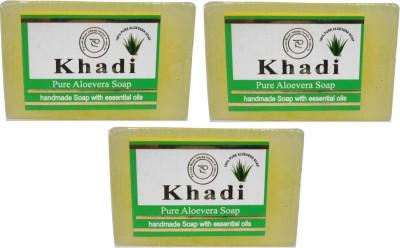 Khadi Herbal NaturalPure Aloevera Soap Pack Of 3