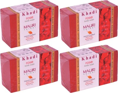 Khadimauri Rose Soap - Pack of 4 - Premium Handcrafted Herbal