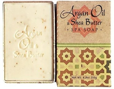 Greenwich Bay Trading Company Argan Oil Shea Butter Triple Milled Exfoliating Craft Bar Soap Gift Box