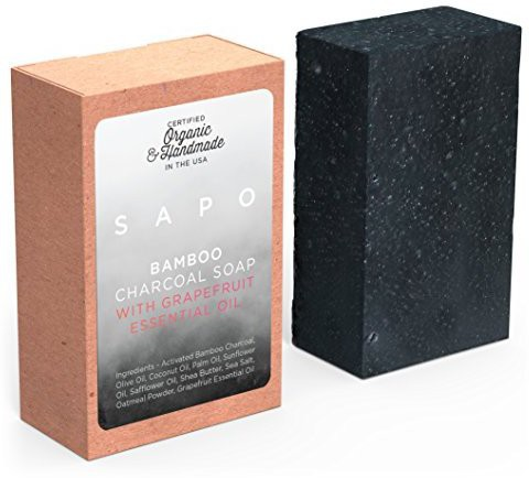 Sapo Bamboo Charcoal Soap Bar(100 g)