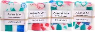 Aden & M Sandalwood Soap - Pack of 4