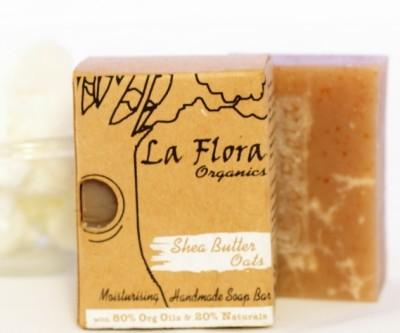 La Flora Organics Shea butter & Oats Scrub handmade soap bar