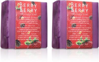 Nyassa Berry Berry Handmade Sugar Soap Pack Of 2