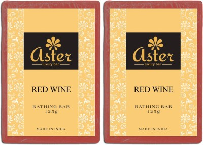 Aster Luxury Red Wine Soap - Pack of 2