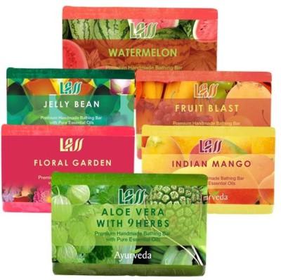 Lass Naturals Summer Pack ( Watermelon,Jelly Bean,Fruit Blast,Indian mango,floral garden,Aloe vera 9 Herbs )
