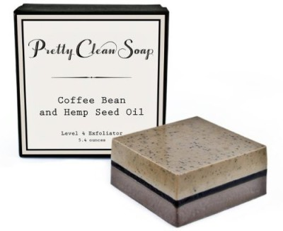 Pretty Clean Soap Coffee Bean and Hemp Seed Oil Exfoliating Soap Level 4 - Nutty Coffee Scent