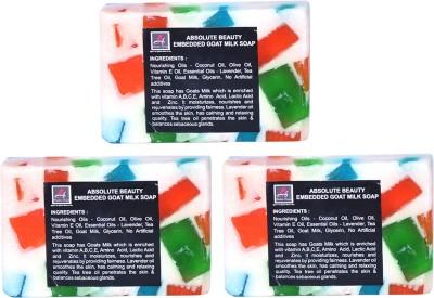Absolute Beauty Goat Milk Whitening Glow Skin Care Handmade Fairness Soap Combo-3