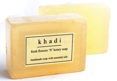 Khadi Natural Fresh Flowers ,n, Honey Soap - Pack of 2