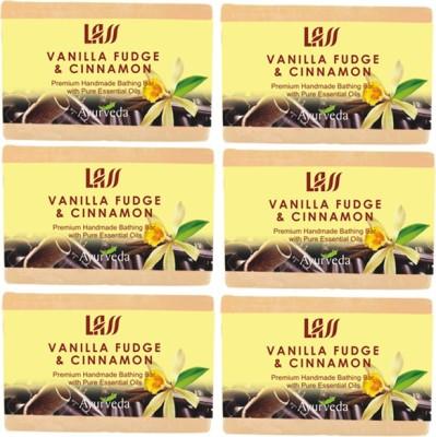 Lass Naturals Vanilla Fuge & Cinnamon Handmade Set Of 6