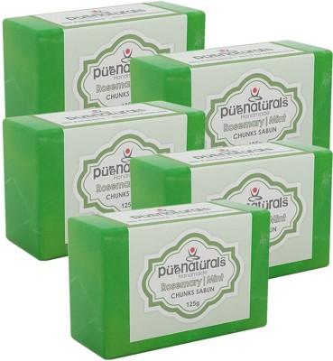 Purenaturals Chunks Soap Rosemary | Mint - 125g (Set of 5)