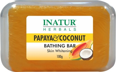 Inatur Papaya & Coconut Bathing Bar