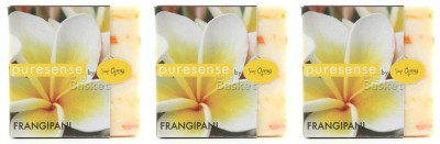 Puresense Floral Soap Frangipani Pack of 3