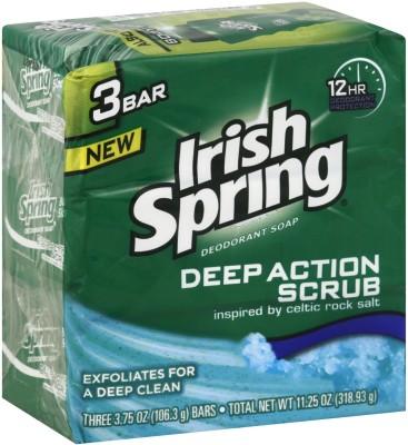 Irish Spring Deep Action Scrub Deodorant Soap