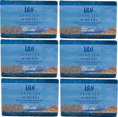 Lass Naturals Dead Sea And Mineral Handmade Soap (Pack Of 6)