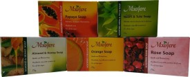 Mxofere Natural Handmade papaya neem tulsi almond honey orange rose soap Kit(pack of 5)