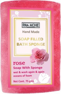 PANACHE Soap Filled Bath Sponge Rose