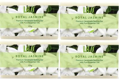 Lass Naturals Royal Jasmine Handmade Soap (Pack of 4)