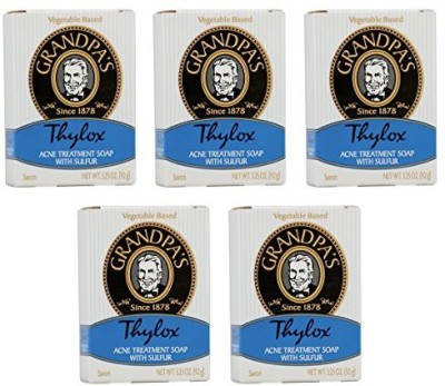 Grandpa's Thylox Acne Treatment Soap with Sulfur (Quantity of 5)