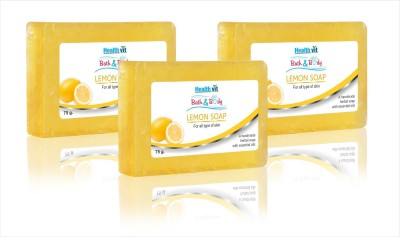 Healthvit Healthvit Bath & Body Lemon Soap 75g - Pack of 3