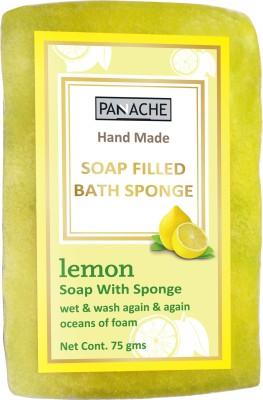 PANACHE Soap Filled Bath Sponge Lemon