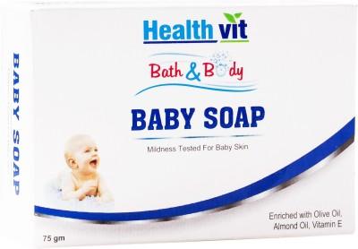 Healthvit Bath Body Baby Soap Olive Vitamin E Almond Oil