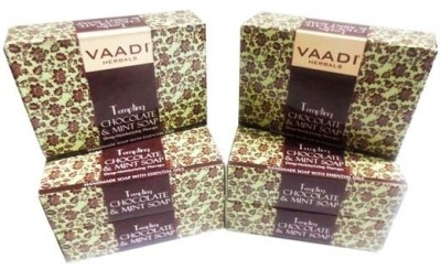 Vaadi Herbals Tempting Chocolate & Mint Soap Deep Moisturising Therapy - Pack of 6