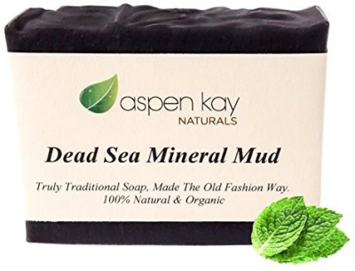Aspen Kay Naturals Dead Sea Mud Soap Bar 100% Organic & Natural. With Activated Charcoal & Therapeutic Grade Essential Oils. Face Soap or Body Soap. For Men Women & Teens. Chemical Free Bar.