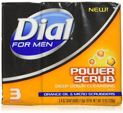 Dial For Men Soap Bar Power Scrub and Micro Scrubbers ( 3 Count )