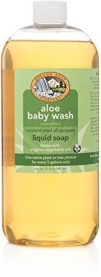 Oregon Soap Company - Unscented Liquid Castile Soap USDA Certified Organic Aloe Baby Wash (Unscented)