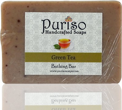 Puriso Handcrafted Soaps - Green Tea Bathing Bar (100g)