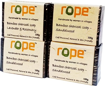 Rope International Bamboo Charcoal Soap - Sandalwood