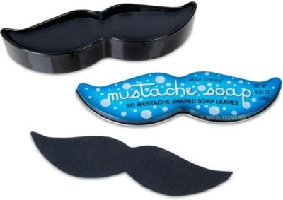ACC 20 Mustache Soap Leaves in Keepsake Tin-Musk Scented
