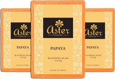 Aster Luxury Papaya Bathing Soap - Pack of 3