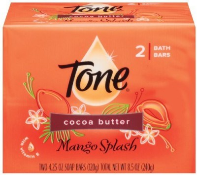 T.One Tone Bath Soap Mango Splash With Cocoa Butter And Botanicals 2-Count