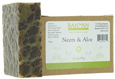 Banyan Botanicals Neem & Aloe Soap - Cooling and Soothing