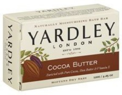 Yardley Cocoa Butter Bath Naturally Moisturizing Soap Bar 3 Pack