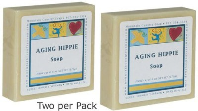 Mountain Country Soap Aging Hippie Natural Patchouli Olive & Cocoa Butter Soap Pack of 2