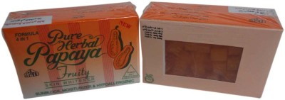 Pure Herbal Papaya Fruity Soap 4 In 1 Skin Whitening Soap Results In 20 Days 3Pc