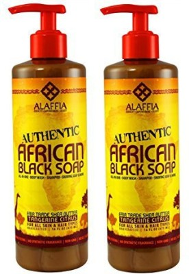 Alaffia - Authentic African Black Soap Tangerine Citrus(2-Pack)