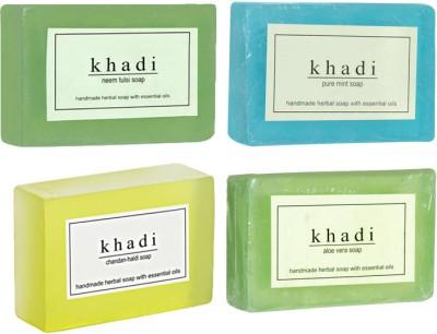 Khadi Herbal Handmade Soap Combo-3 Pack of 4(500 g)