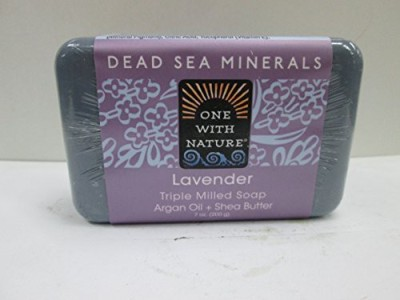 One With Nature Dead Sea Mineral Soap Lavender (Pack of 6)