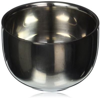 Wowlife Stainless Steel Shinning Durable Shaving Mug Bowl Heat Insulation Shave Soap Cup(50 g)
