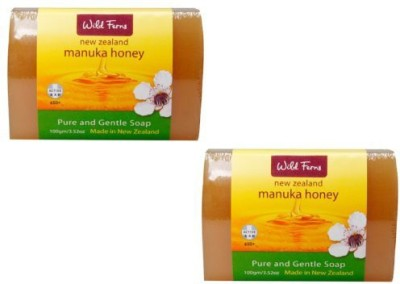 Parrs Skincare New Zealand Wild Ferns Manuka Honey Pure and Gentle Soap 2 Pack