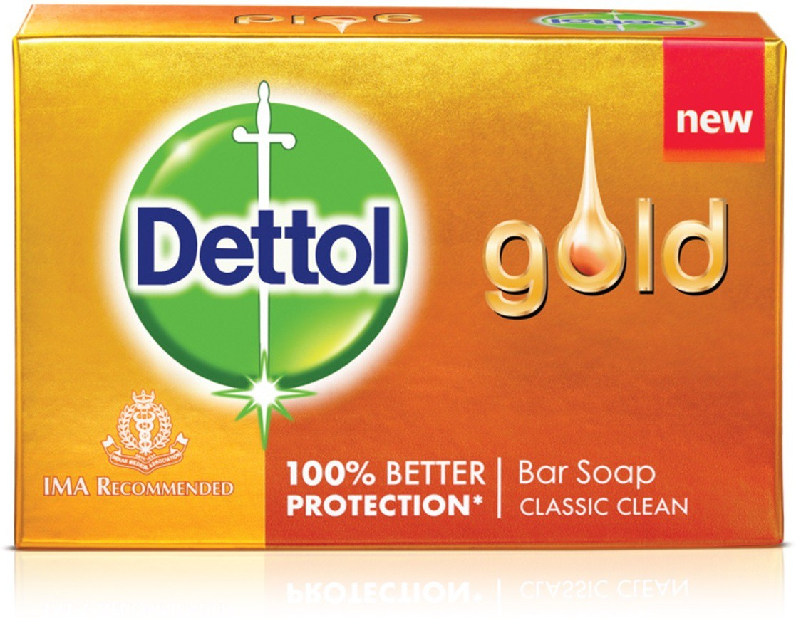 Dettol Gold Classic Clean 75GM - Pack of 6(450 g, Pack of 6)