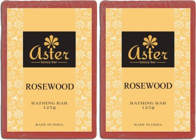 Aster Luxury Rosewood Bathing Bar - Pack of 2