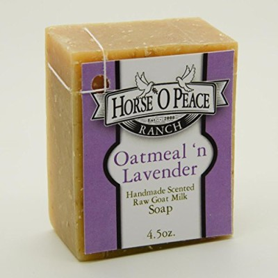 Horse ,O Peace Ranch Handmade Herbal 100% Raw Goat Milk Lavender ,n Oatmeal Soap (1 Pack)