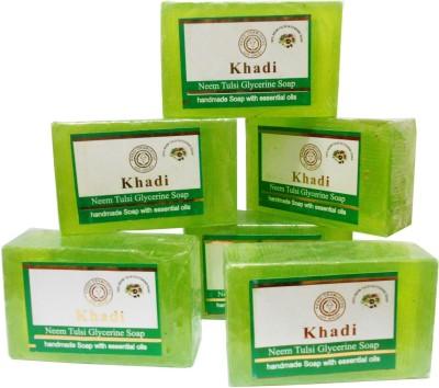 Khadi Herbal NaturalNeem Tulsi Soap Family pack