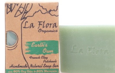 La Flora Organics Earths Own French clay handmade soap bar