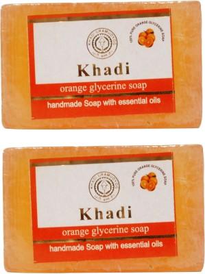 Khadi Herbal NaturalOrange Glycerine Soap Pack Of 2